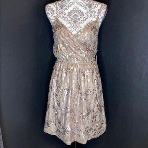 NWT Express Sequin Surplice Dress
